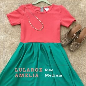Gorgeous LuLaRoe Amelia Dress with POCKETS!